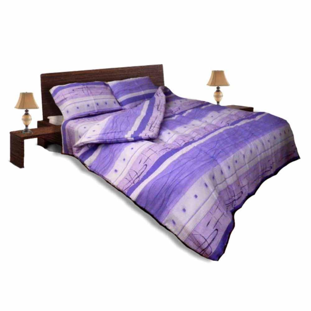 Олекотен спален комплект - Крепон - Лилав