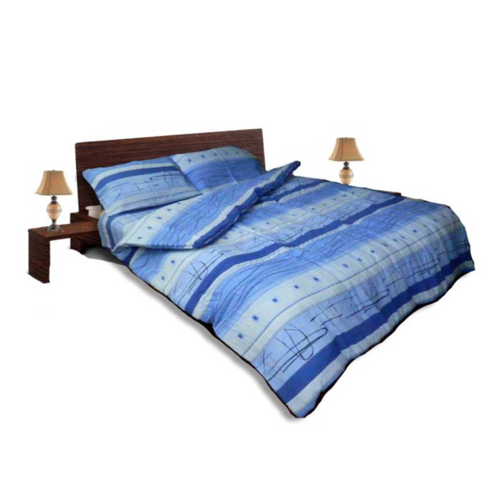 Олекотен спален комплект - Крепон - Син
