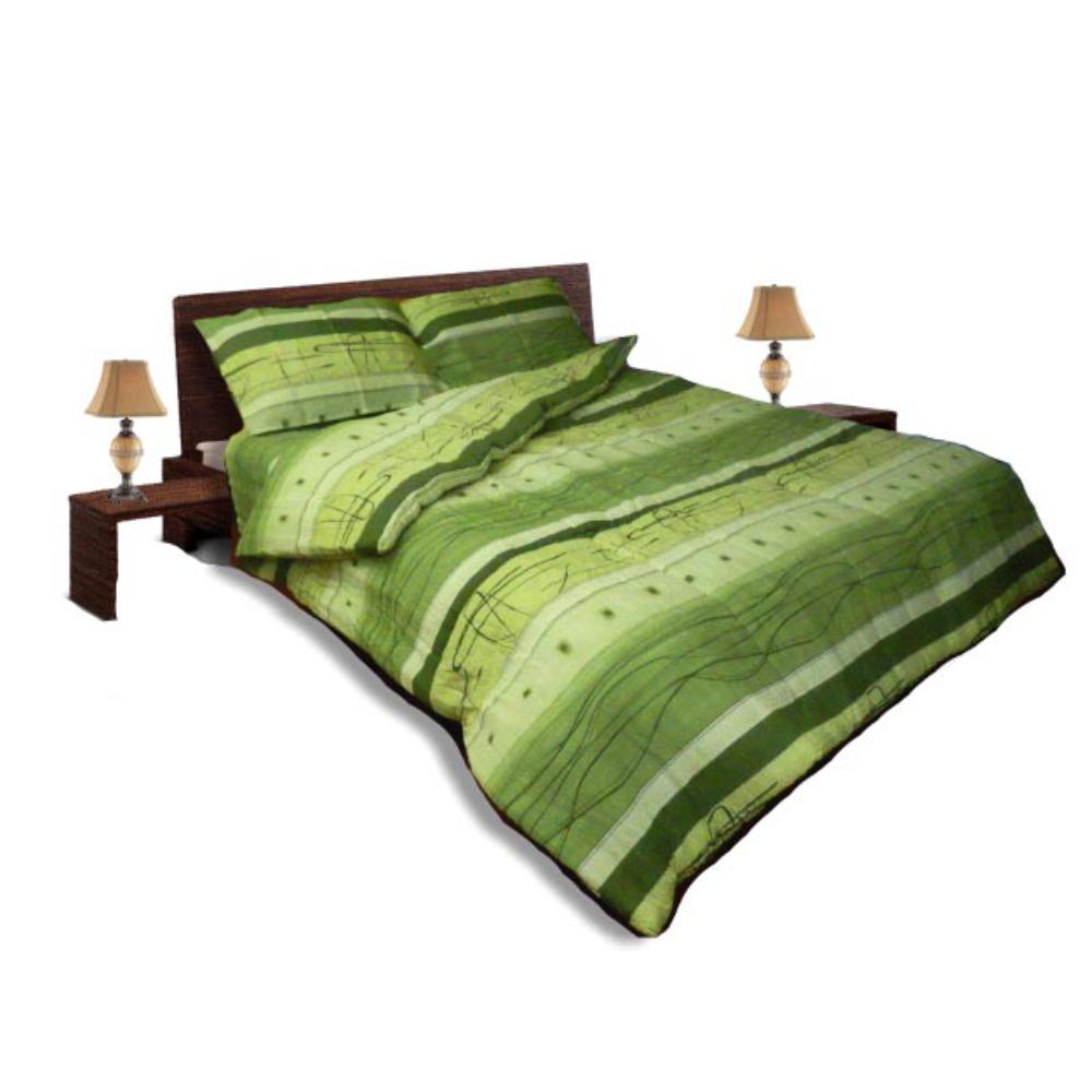 Олекотен спален комплект - Крепон - Зелен