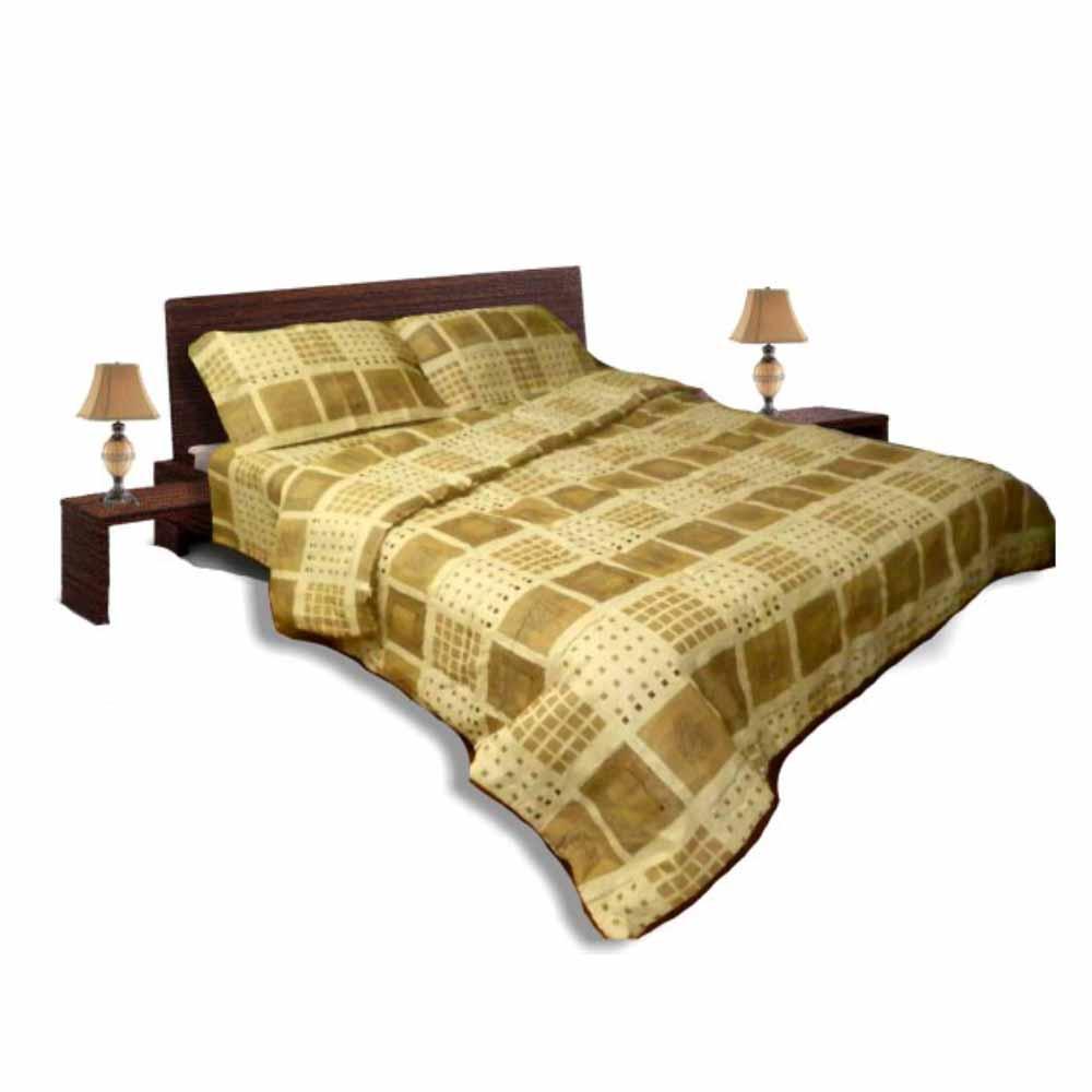 Олекотен спален комплект - Памук - Бежов