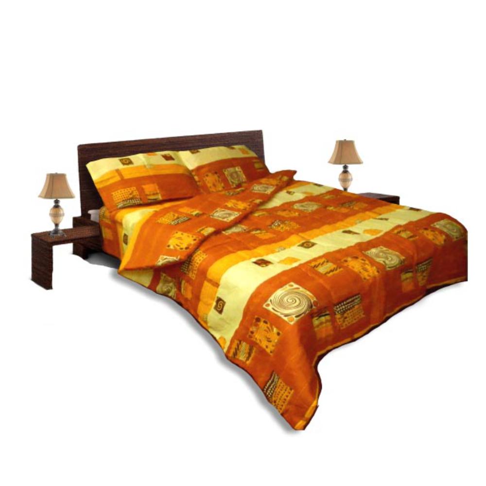 Олекотен спален комплект - Памук - Оранж