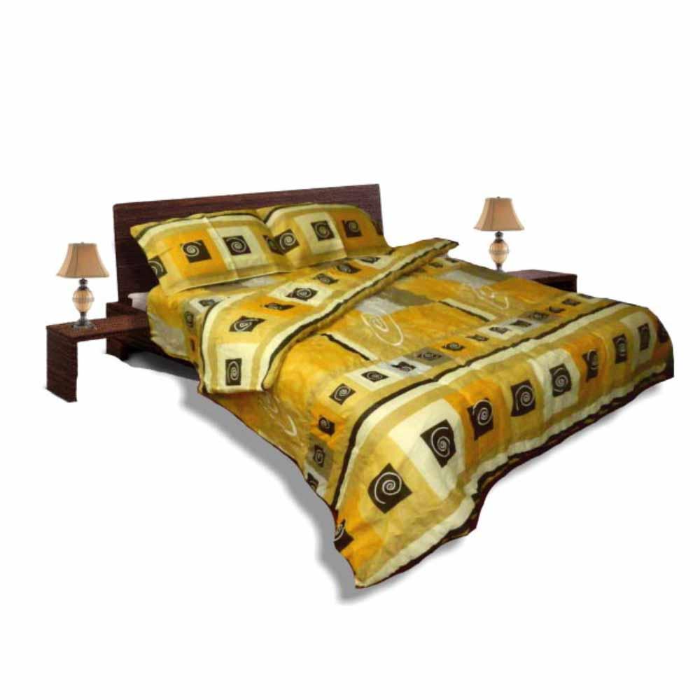 Олекотен спален комплект - Памук - Жълт