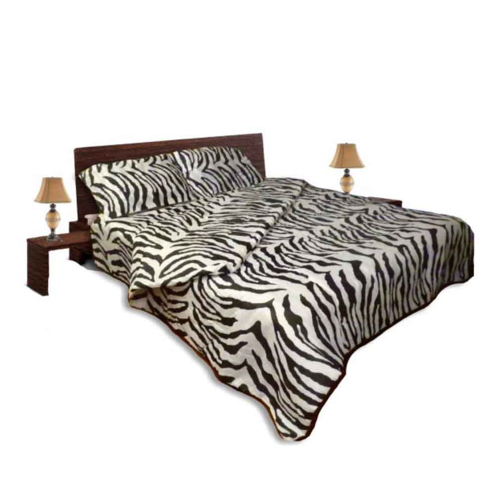 Олекотен спален комплект - Памук - Зебра
