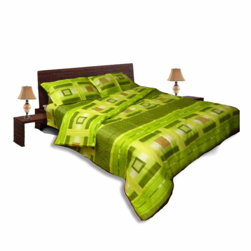 Олекотен спален комплект - Памук - Зелен