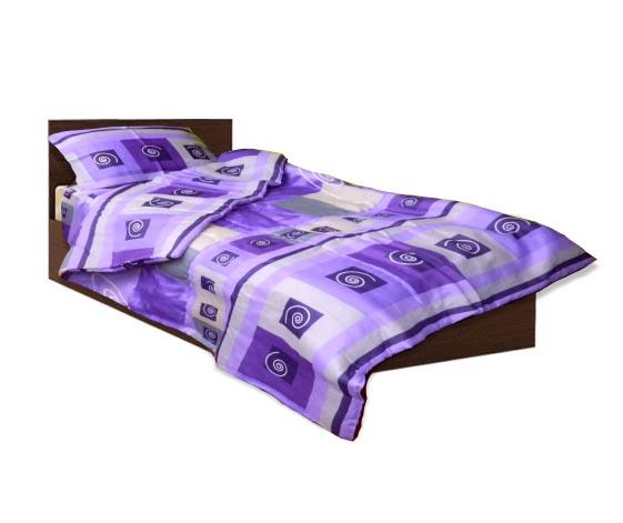 Олекотен спален комплект - Памук - Лилав - единичен