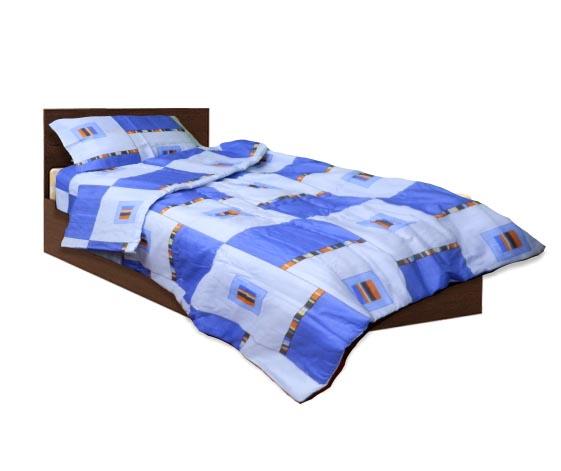 Олекотен спален комплект - Памук - Син - единичен