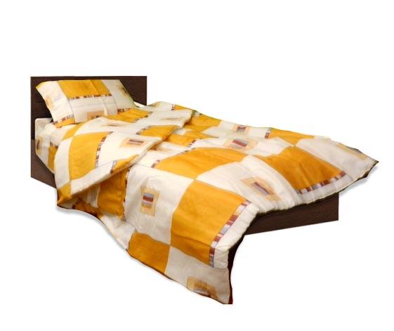 Олекотен спален комплект - Памук - Жълт - единичен