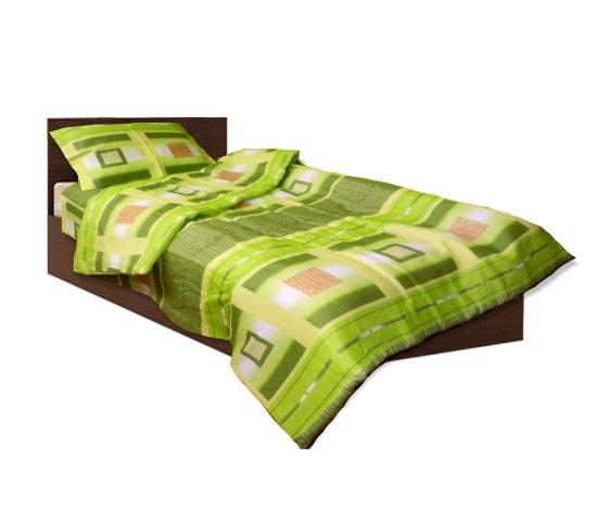 Олекотен спален комплект - Памук - Зелен - единичен