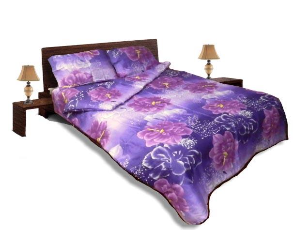Олекотен спален комплект - Памук - Лилав -приста