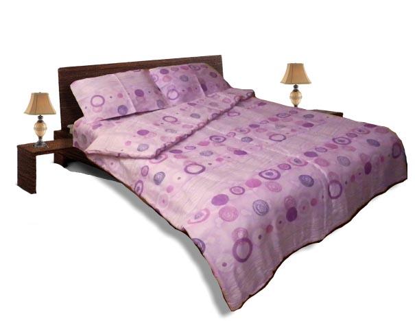 Олекотен спален комплект - Памук - Розов - приста