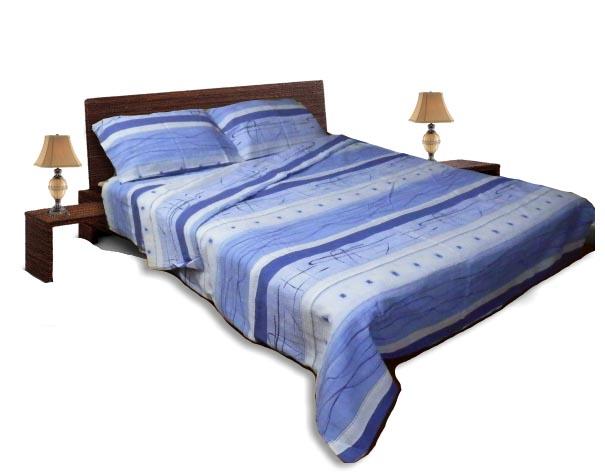 Спално бельо комплект - Крепон- Син