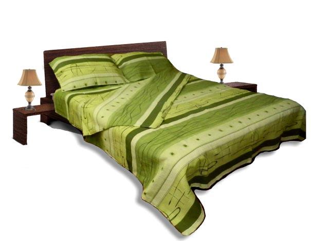 Спално бельо комплект - Крепон- Зелен