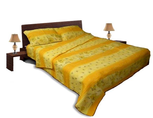 Спално бельо комплект - Крепон-Жълт