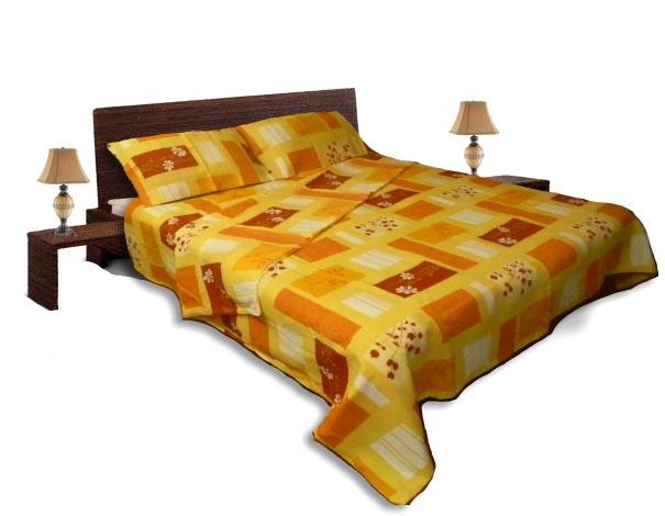 Спално бельо комплект - Крепон-Червени квадрати