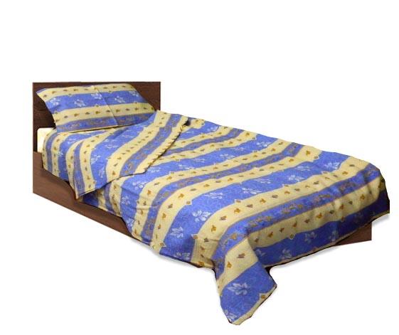 Спално бельо комплект- Крепон- Син- единичен