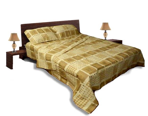 Спално бельо комплект - Памук- Бежов