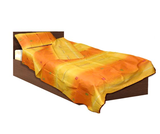 Спално бельо комплект - Памук- Жълт- единичен