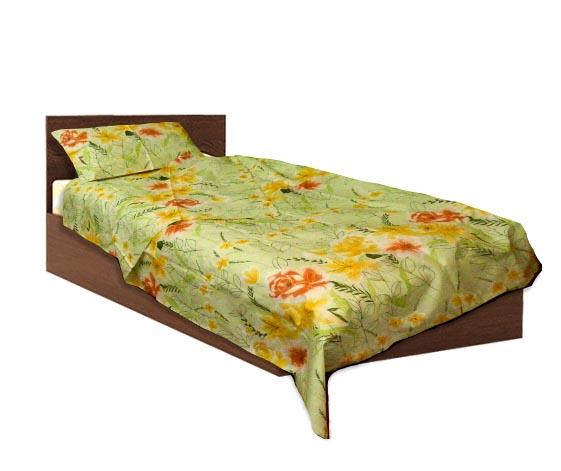 Спално бельо комплект- Памук- Зелен- единичен