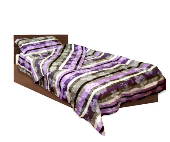 Спално бельо комплект - Ранфорс- Лилав- единичен