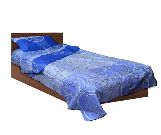 Спално бельо - Ранфорс- Син- единичен